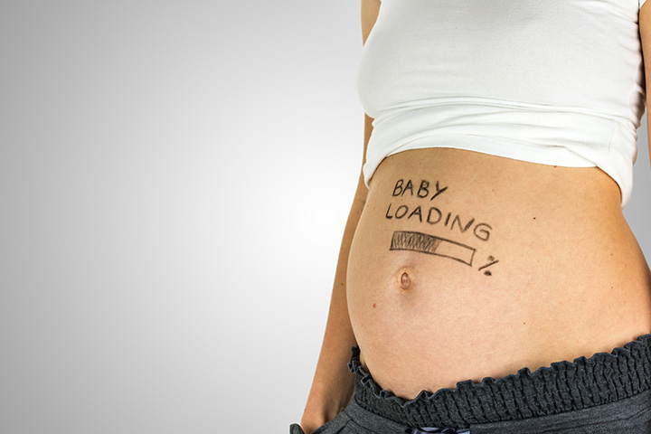Sign on the belly: