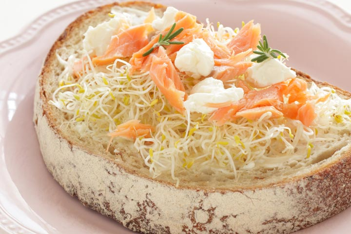 Sprouts Open Sandwich