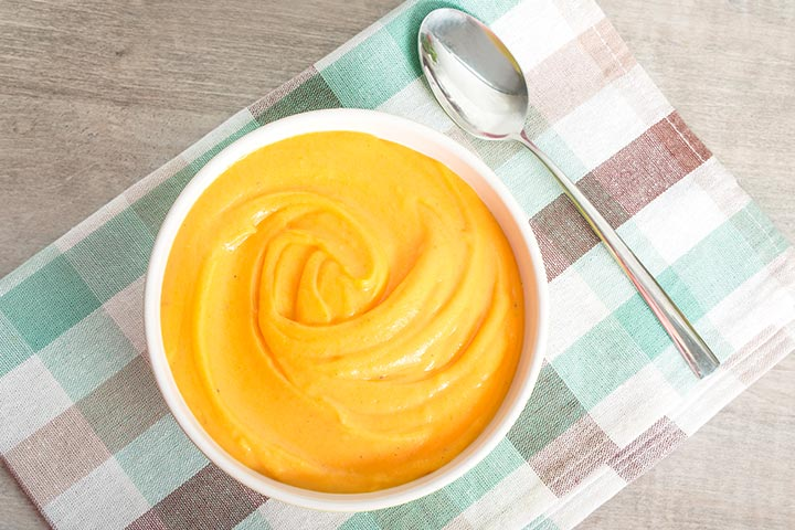 Sweet potato and carrot puree