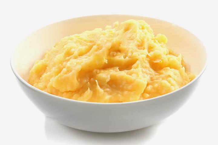 Sweet potato and chicken puree