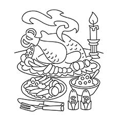 Thanksgiving Meal Coloring Pages Divascuisine Com