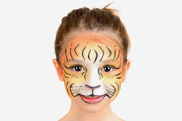 Easy tiger face paint - photo#22