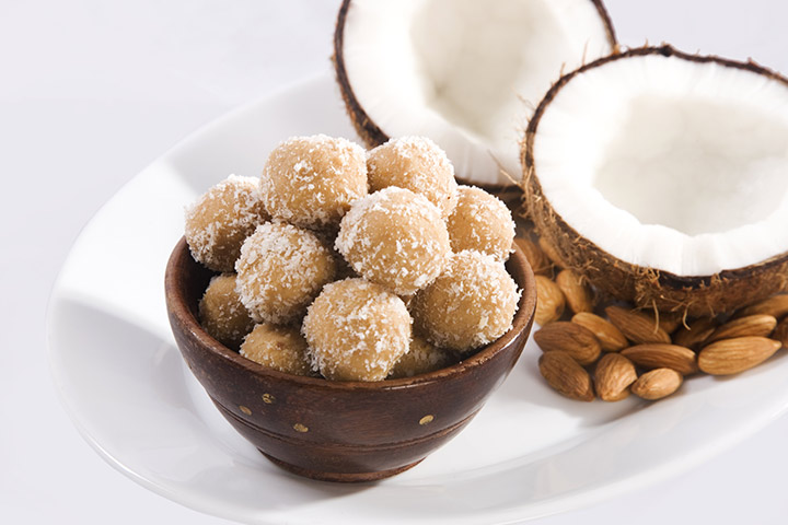 Toasted coconut laddoo