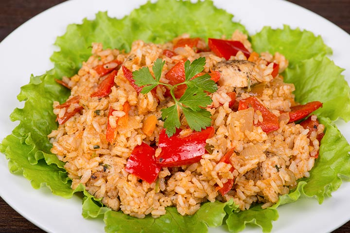Tomato Rice With Paneer