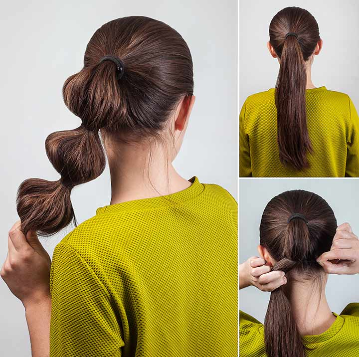 Twist through ponytail