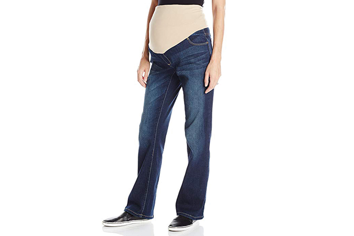 d9f19a57cb00a 3. Three Seasons Boot Cut Maternity Jeans With Neutral Belly Band. Three  Seasons Boot Cut Maternity Jeans With Neutral Belly Band