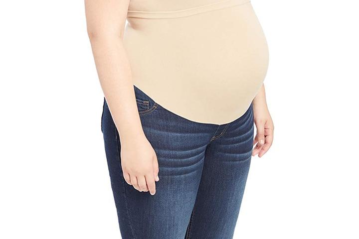 Motherhood Maternity Women's Maternity Plus-Size French Terry Secret Fit Belly Denim Jegging