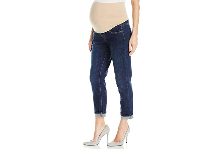 Three Seasons Maternity Women's Cuffed Denim Ankle-Length Jeans