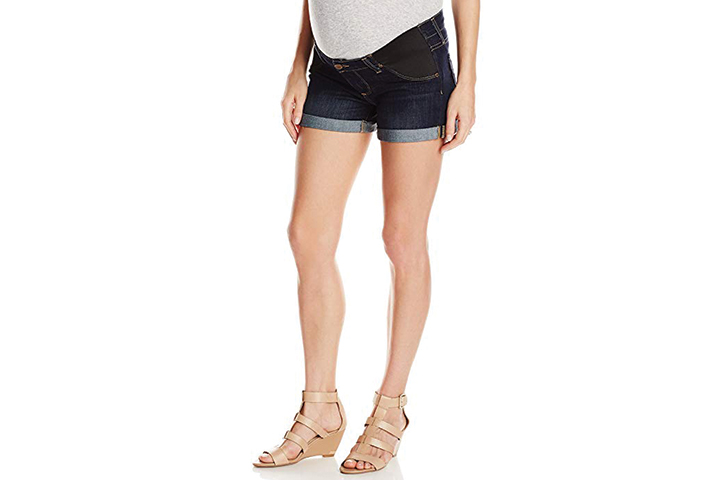 Paige Women's Maternity Jimmy Short with Elastic Insets
