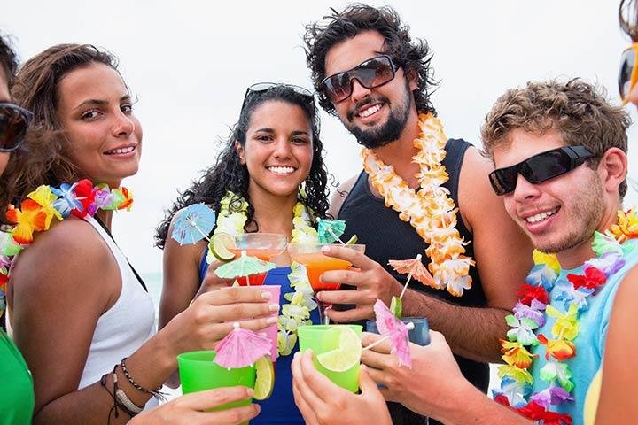 A luau or Hawaiian birthday party