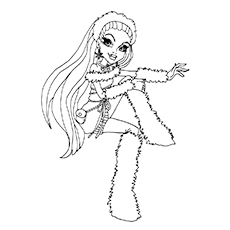 Monster High Character Abbey Bominable Coloring Pages