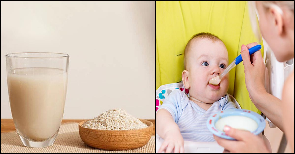 Rice Water For Babies Is It Healthy