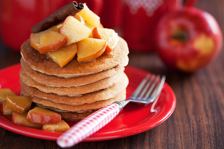 Greek Yogurt For Babies - Apple Cinnamon Greek Yogurt Pancakes