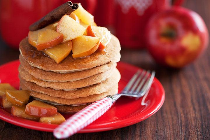 Greek Yogurt For Babies - Apple Cinnamon Greek Yogurt Pancakes