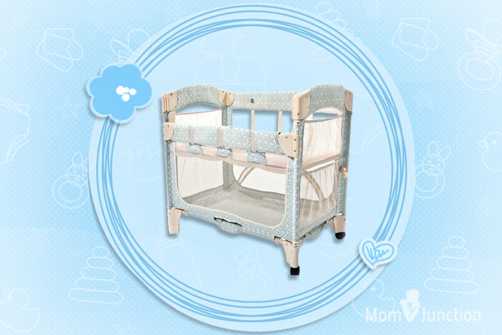 Arm's Reach Concepts Mini Arc Co-Sleeper Bassinet Damask