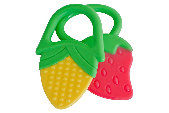 Baby Teething Rings  Strawberry   Corn Teether Toys – 2 Pack a13700aa61f6