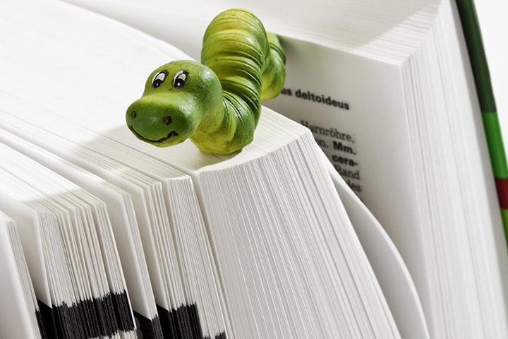 Bookworm Book Mark