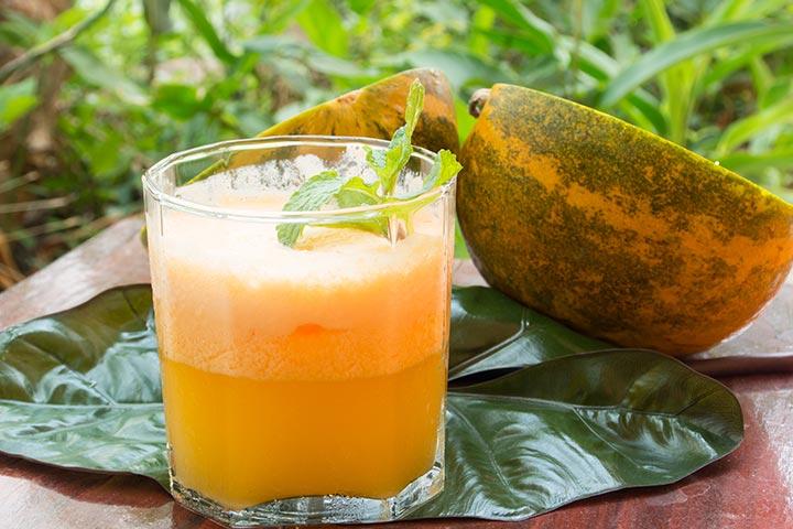 Cantaloupe-Ginger Spritzer Mocktail Images