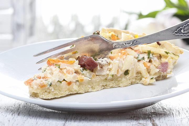 Carrot And Potato Quiche