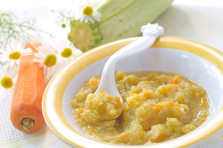 Carrot and green beans puree