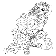 Catty Noir from Monster High Printable Coloring Page