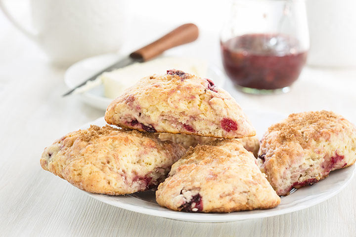 Cherry-Oat Scones