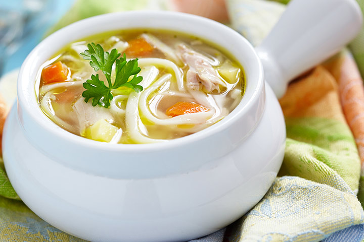 Chicken And Noodles Soup