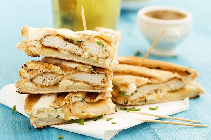 Chicken and potato sandwiches