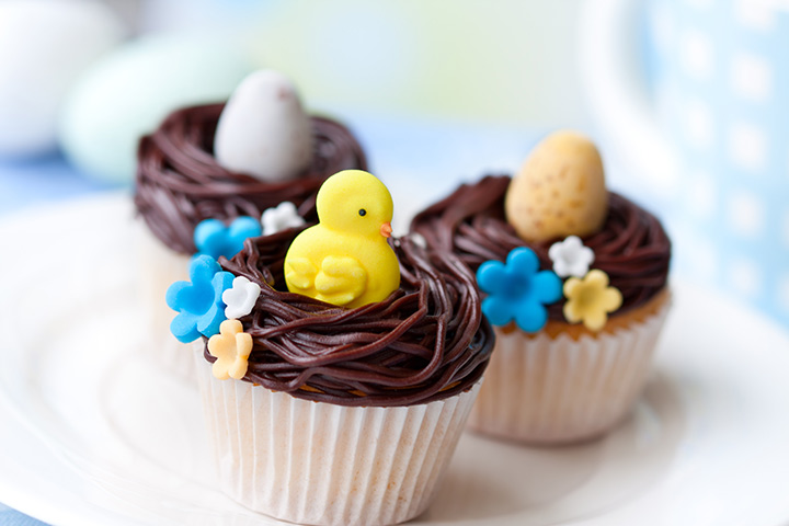 Chocolate Fudge Easter Cupcake