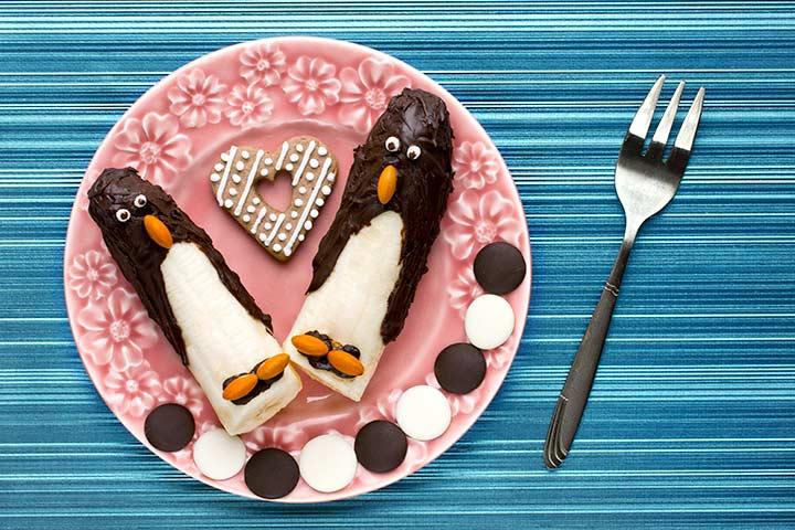 Chocolate banana penguin