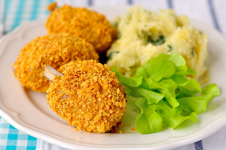 Easy Recipes For Kids-Cornflake-Crusted Baked Chicken