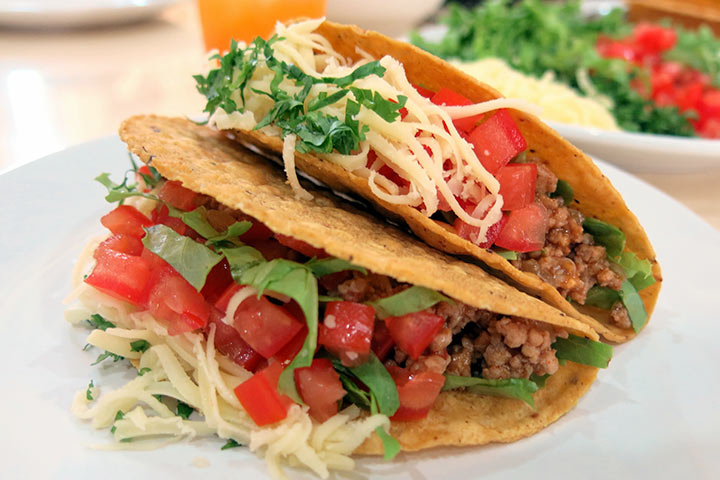 Crunchy breakfast tacos