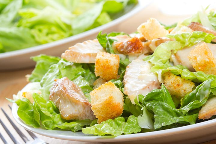 Eggless Caesar Salad Recipe