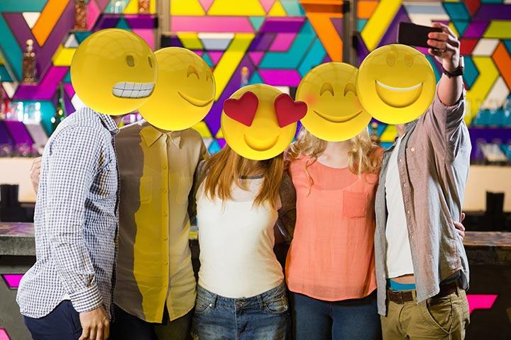 Emoji-themed birthday party