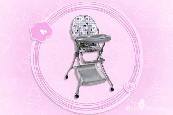 Fab N Funky High Chair With Storage Basket