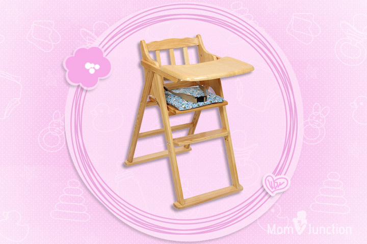 Fab N Funky Wooden High Chair