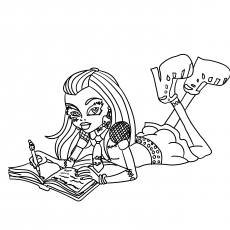 Free Printable Coloring Pages of Frankie Stein from Monster High