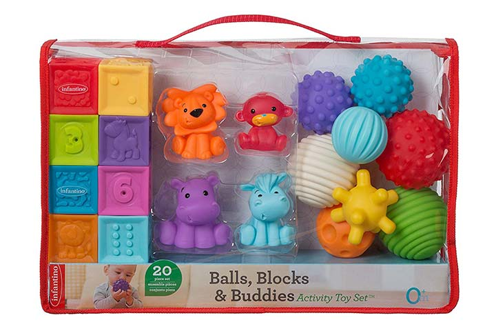 Infantino Balls, Blocks, & Buddies Activity Toy Set