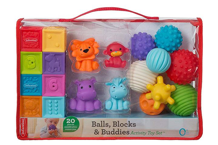 Infantino Balls Blocks Buddies Activity Toy Set