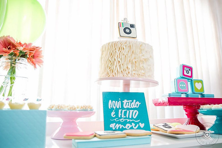 Instagram-themed birthday party