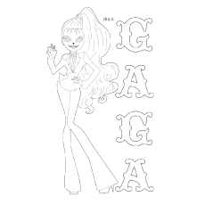 lady gaga zombie gaga coloring pages