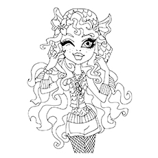 Lagoona Blue Character Coloring Page