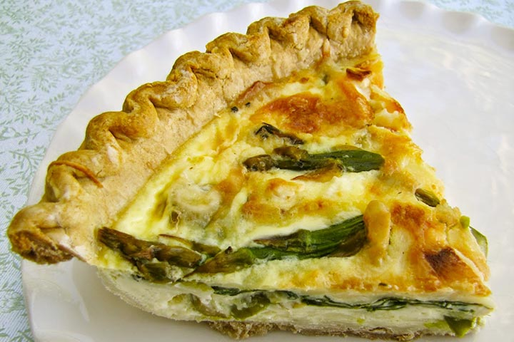 Quiche For Toddlers - Leek, Asparagus And Spinach Quiche
