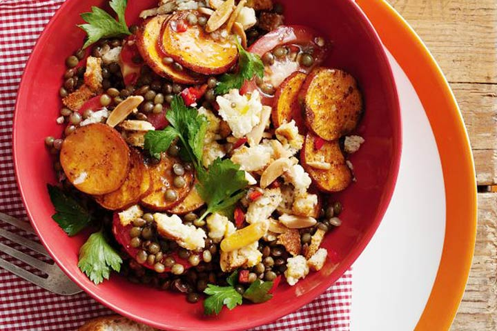 Lentil, Apple And Sweet Potato Salad