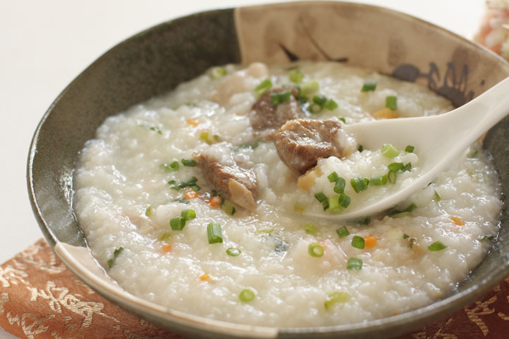 Meat and rice porridge