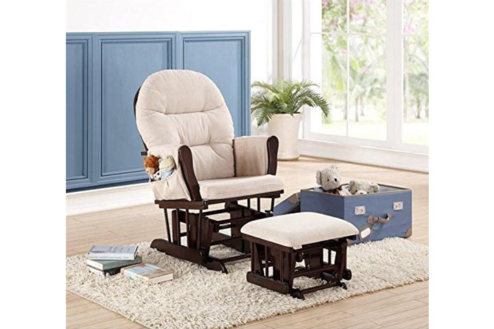 Naomi Home Brisbane Glider and Ottoman