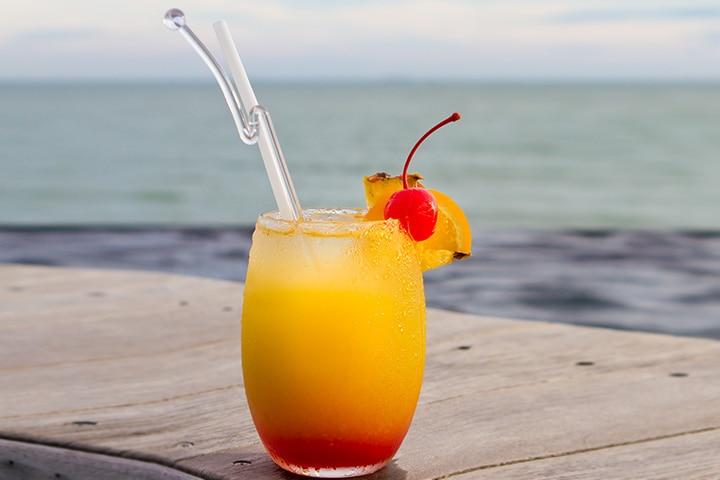 Ombré Grapefruit Mocktails Pictures