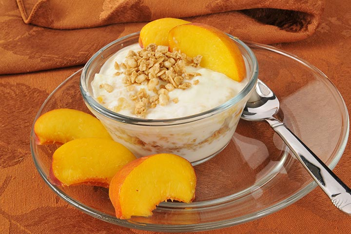 Greek Yogurt For Babies - Peach With Greek Yogurt