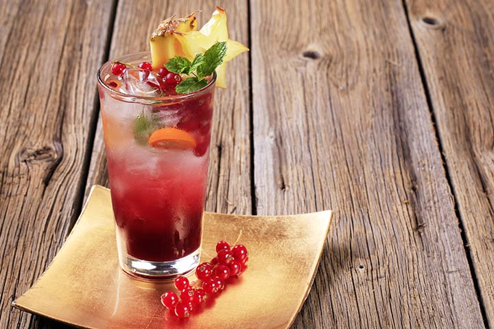 Pineapple And Cranberry Mocktail