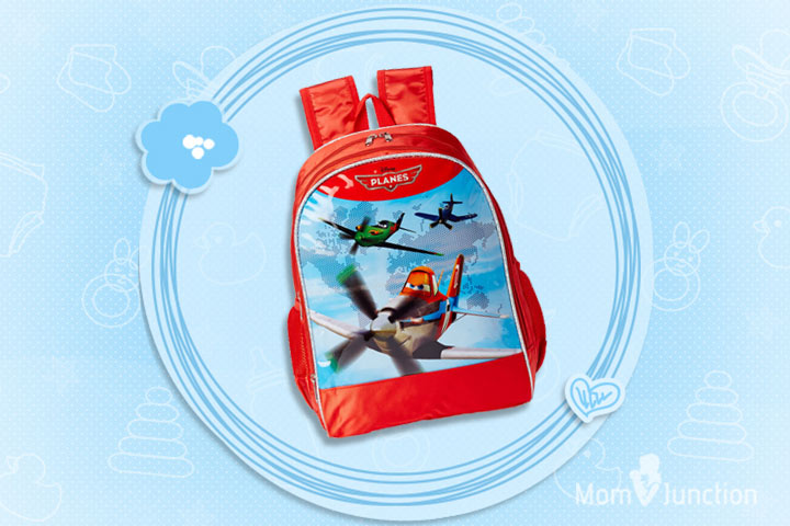 Planes 35 Liters Red Children's Backpack (St-Kdn-Gp-12-7361-14)